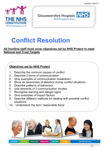What is Conflict? - Gloucestershire Hospitals NHS Trust