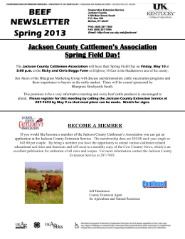 Jackson County Cattlemen`s Association Spring Field Day!