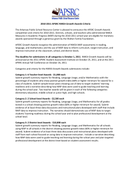 2010-2011 APSRC NWEA Growth Awards Criteria The Arkansas
