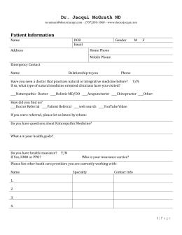 sample mental RFC questionnaire