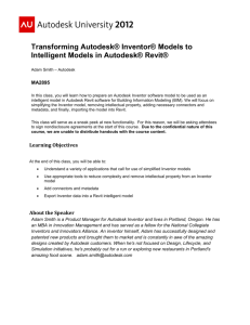 Transforming Autodesk® Inventor® Models to Intelligent Models in