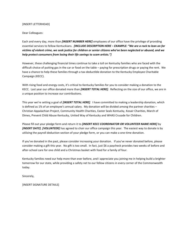 Endorsement Letter from Cabinet Leadership