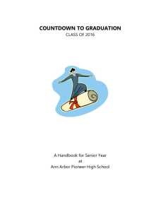 COUNTDOWN TO GRADUATION - Pioneer Counseling Department
