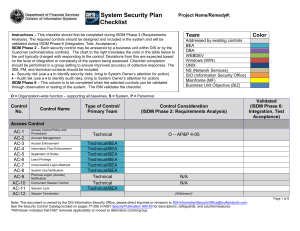 Information System Security Plan Template