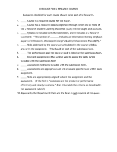 CHECKLIST FOR U RESEARCH COURSES Complete checklist for