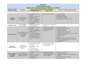 Appendix 6_Classifying Healthcare Coalition