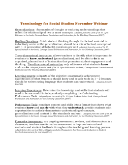 Terminology for Social Studies November Webinar