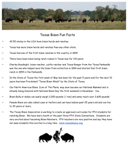 TBA Fact Sheet - Texas Bison Association