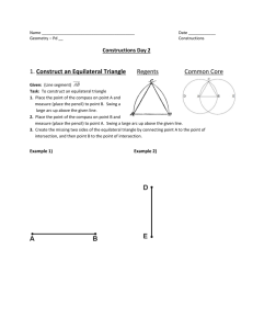 Construct an Equilateral Triangle Regents Common Core