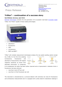 Press Release TriStar² Multimode Microplate Reader