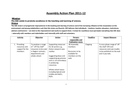 Assembly Action Plan 2011-12 Mission