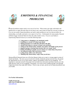 Emotional and Financial Problems