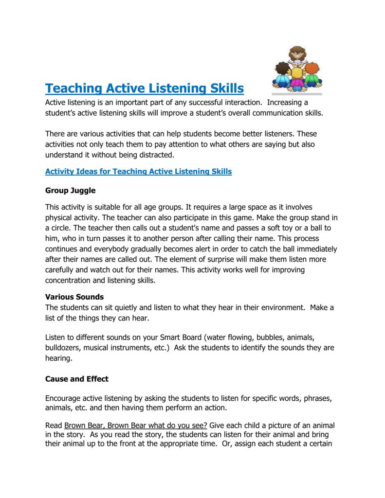 Teaching Active Listening Skills