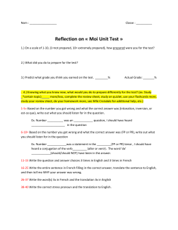 Reflection on « Moi Unit Test