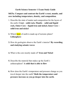 Earth Science Semester 1 Exam Study Guide S6E5a. Compare and