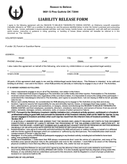 liability form attached