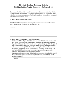 Essay Questions Nothing But The Truthdoc Directedreadingthinking Activity Nothing But Essay On Photosynthesis also Purchase Persuasive Speech  Sample Argumentative Essay High School