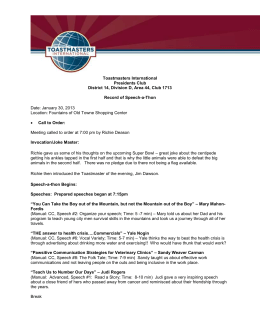 Speech-a-Thon - The President`s Club Toastmasters