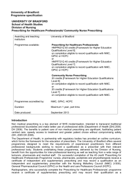 prescribing pyramid essay This single prescribing competency framework replaces all previous profession  specific competency frameworks published by the national prescribing centre.