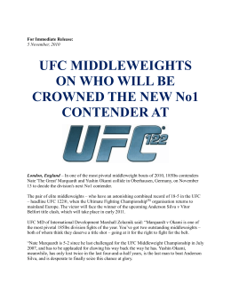 UFC MIDDLEWEIGHTS ON WHO WILL BE CROWNED THE NEW