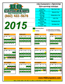 Download: Recycling Calendar & Guide