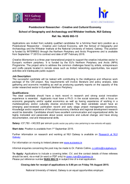 NUIG 093-15 Postdoctoral Researcher