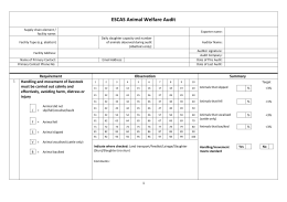 ESCAS Animal Welfare Audit Form