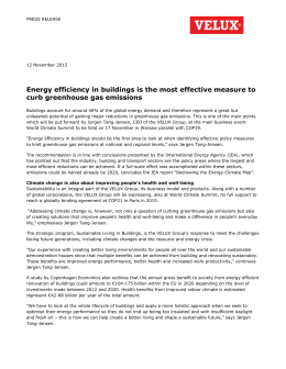 Energy efficiency in buildings is the most effective measure to curb
