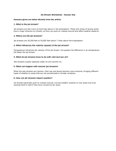 Jet Stream Student Worksheet - Answer Key