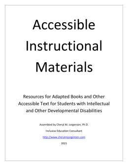 Accessible Instructional Materials Guidelines