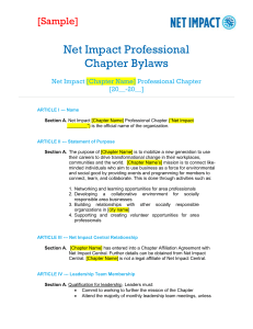 view sample Net Impact chapter bylaws here