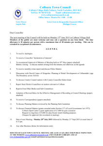 minutes of a meeting of colburn town council held on thursday 12th