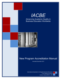 New Program Accreditation Manual
