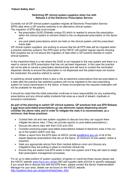 Patient Safety Alert re GP system switching