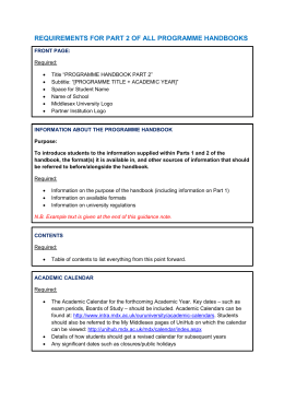 Student programme handbook franchised part 2 template