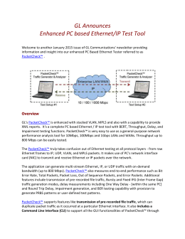 GL Announces Enhanced PC based Ethernet/IP Test Tool Welcome
