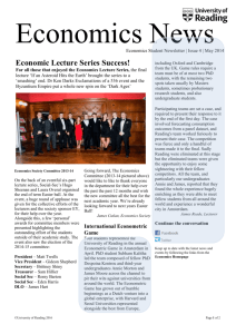 Economics Newsletter May 2014