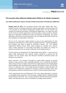 TCS Launches New Editorial Collaboration Platform for Media