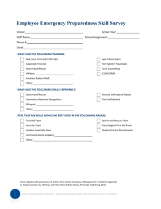 Employee emergency preparedness skills survey