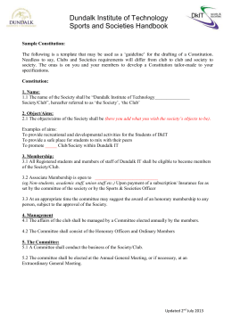Sample Constitution - Dundalk Institute of Technology