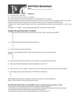 gattaca text essay question focus gattaca worksheet