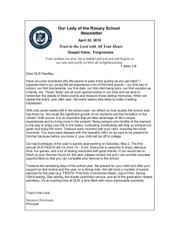Important Information - Our Lady of the Rosary Catholic School