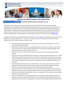 101012 CDC Meningitis Update Summary