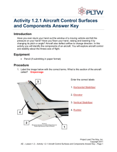 A 1.2.1 Aircraft Control Surfaces and Components Answer Key