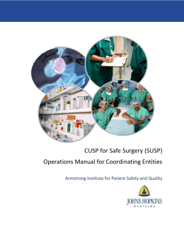 State Hospital Association Project Coordinators* Operational Manual