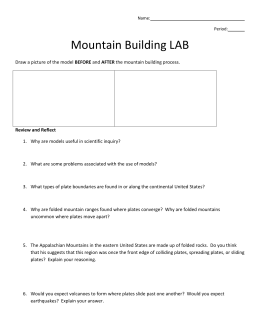 Mountain Building LAB