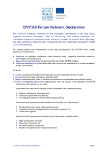 Civitas Forum Network Declaration