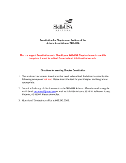 Suggested SkillsUSA Chapter Constitution