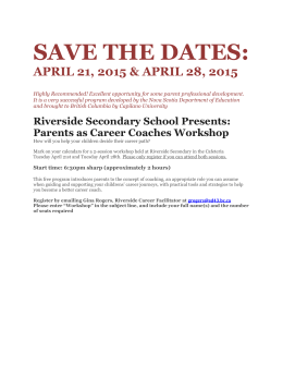 Parents as Career Coaches April 2015