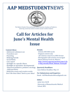 Call_For_Articles Mental Health 2015